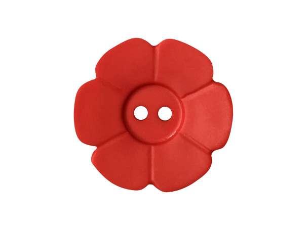 Knopf Blümchen 15mm - rot