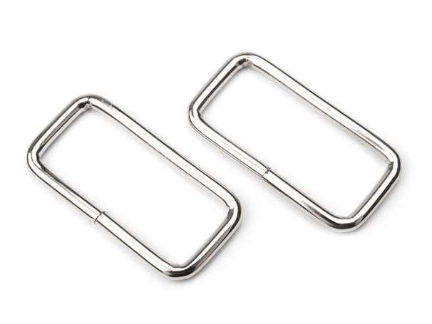 4 Vierkantringe - 32 mm - silber