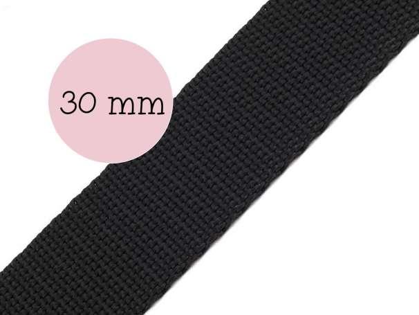 Gurtband - 30mm - schwarz