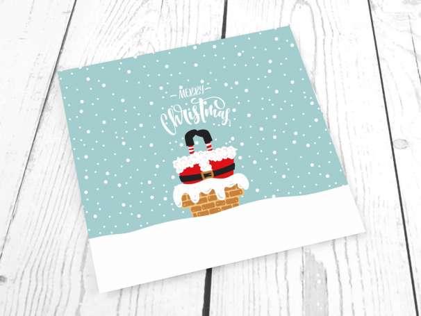 Jersey Stoff - Merry Christmas - PANEL - Schornstein