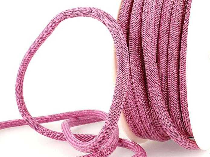 Kordel metallic - 7mm - rosa