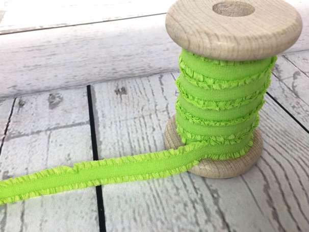 Rüschen - Gummiband - neongrün