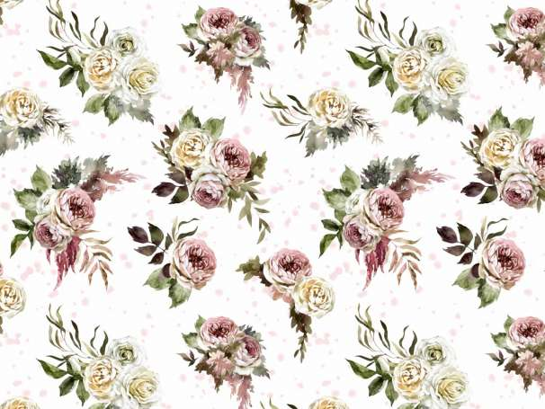 Jersey Stoff - Vintage Flower
