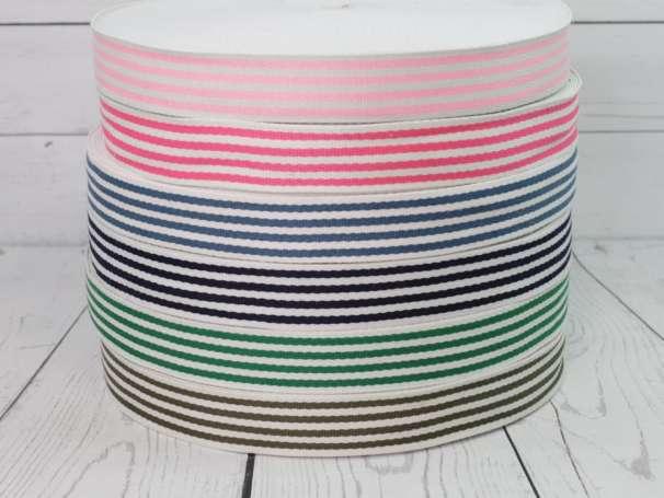 Gurtband - 35 mm - Streifen,verschiedene Farben