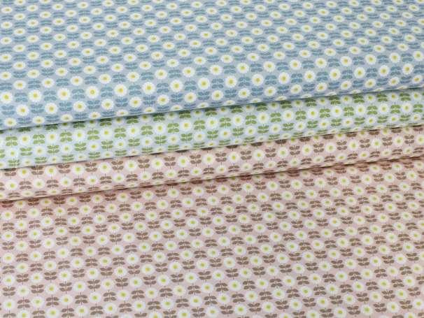 Baumwolle Stoff - Retro Daisy - verschiedene Farben