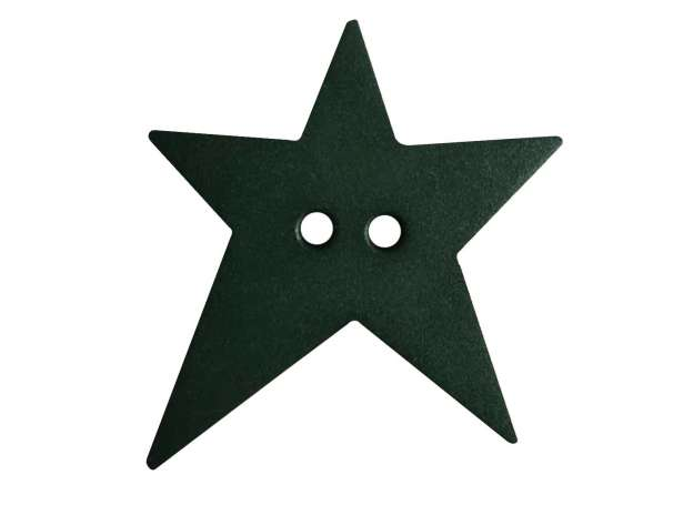 Knopf Stern 28mm - dunkelgrün