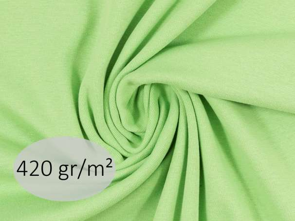 Bündchenstoff - ANTJE 420 gr. - hellgrün