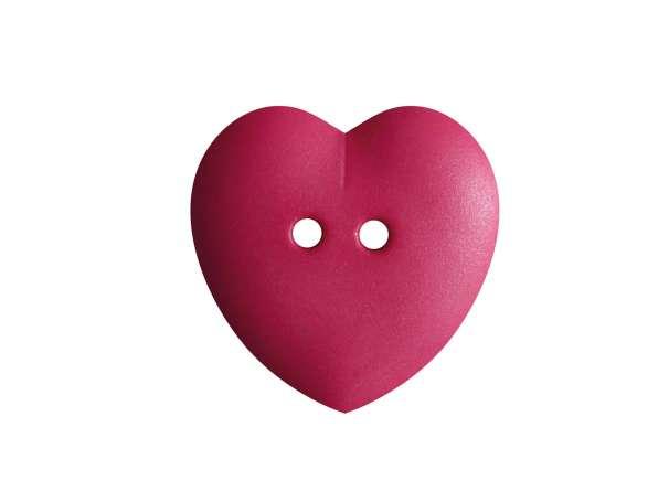 Knopf Herz 15mm - pink