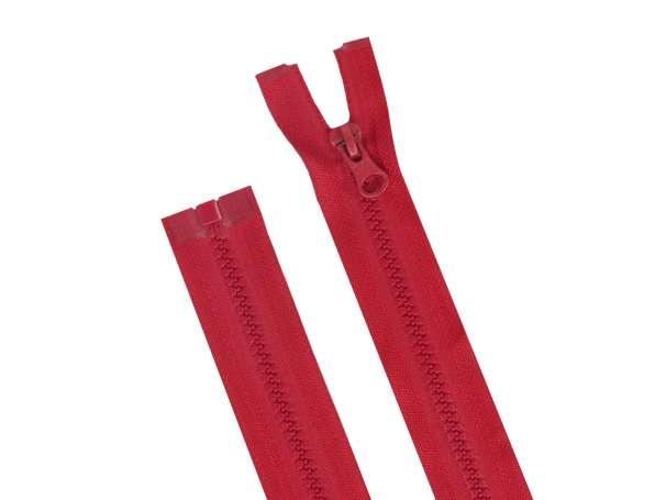 Teilbarer Reißverschluss - 70 cm - dunkles rot