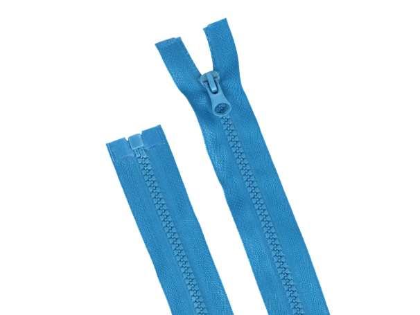 Teilbarer Reißverschluss - 70 cm - türkis