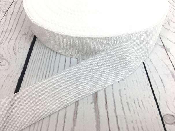 Gurtband - 40mm - weiß