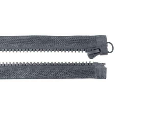 Teilbarer Reißverschluss - 25 cm - dunkelgrau