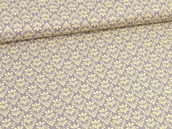 Baumwolle Stoff - Light Breeze - Blümchen grafisch - gelb