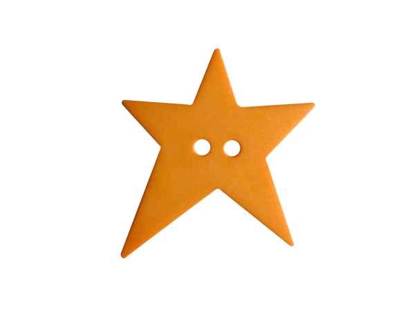 Knopf Stern 15mm - orange