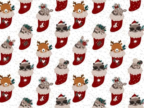 French Terry - Weihnachtswunder - Weihnachtssocke