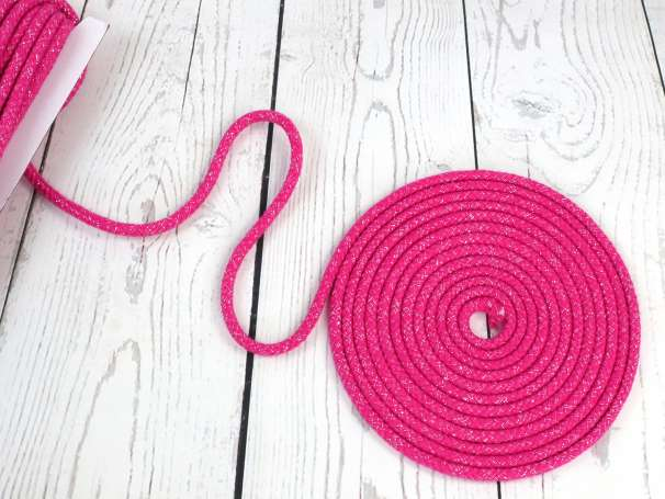 Glitzerkordel 10mm - pink