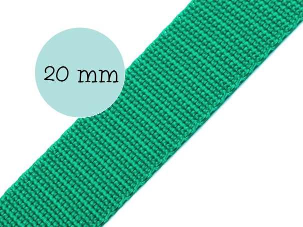 Gurtband - 20mm - smaragdgrün
