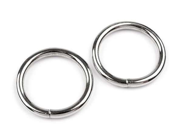 4 Metall-Ringe - 25 mm - silber