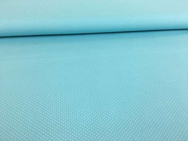Baumwolle Stoff eisblau - Mini Pünktchen