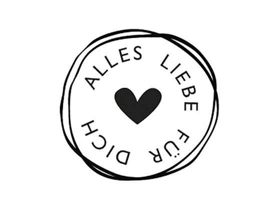 """Holzstempel """"Alles Liebe - Für Dich"""""""