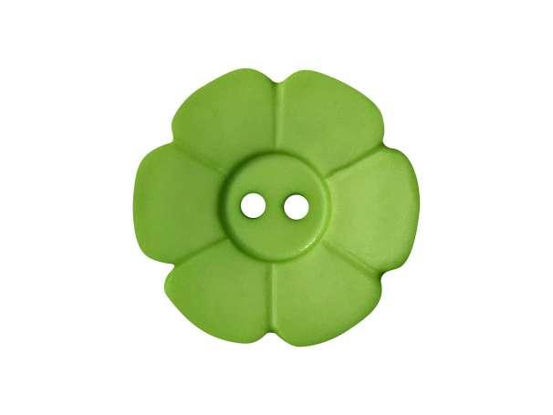 Knopf Blümchen 15mm - hellgrün