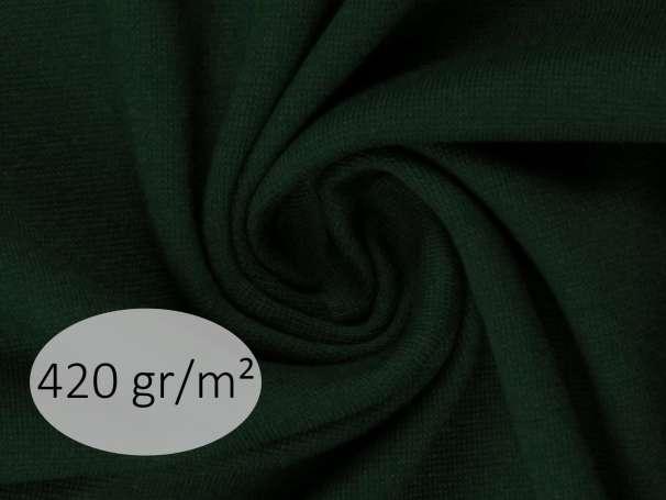 Bündchenstoff - ANTJE 420 gr. - dunkelgrün