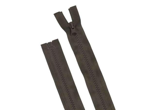 Teilbarer Reißverschluss - 75 cm - dunkelbraun