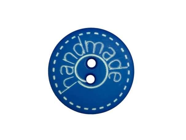 Knopf - 18 mm - Handmade, blau