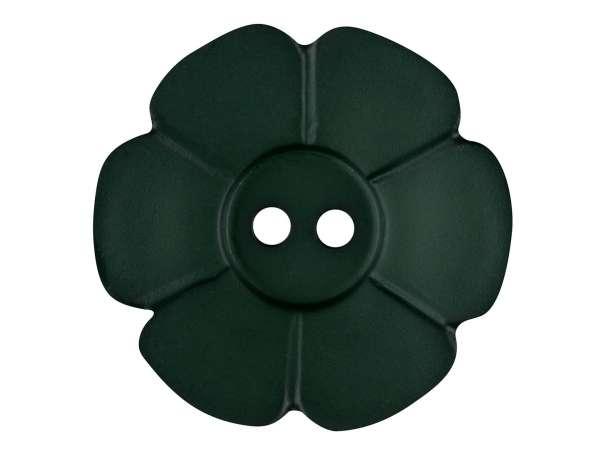 Knopf Blümchen 28mm - dunkelgrün