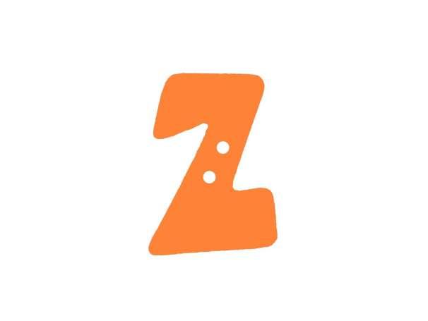 Buchstaben Knopf - orange - Z
