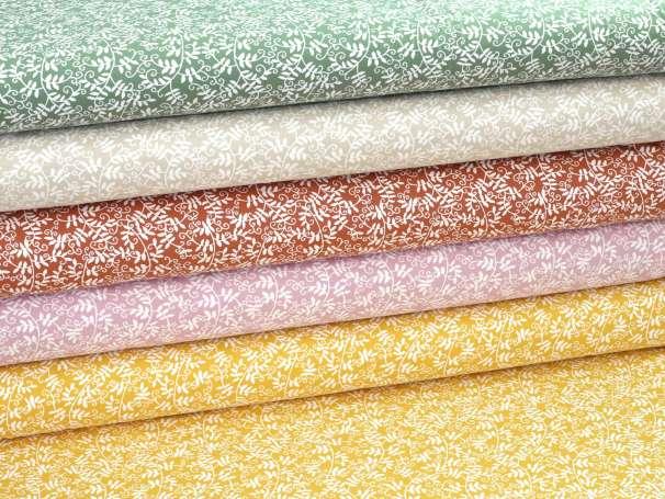 Jersey Stoff - Blätterranken - verschiedene Farben