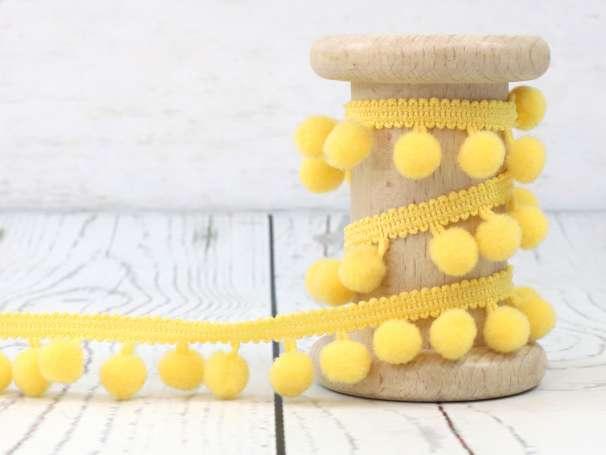 Bommelborte - 18mm - gelb