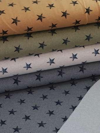 French Terry - Große Sterne - verschiedene Farben