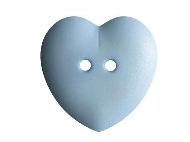 Knopf Herz 23mm - hellblau