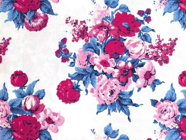 Westfalenstoffe weiß - Bangkok - Blumenbouquet