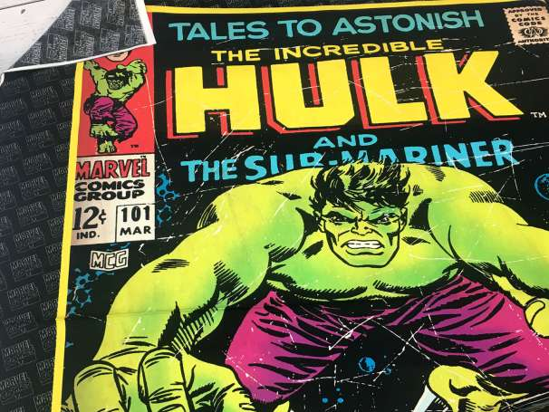 Baumwolle Stoff - PANEL - The Incredible Hulk