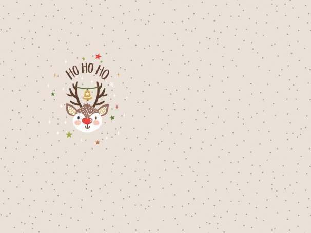 Jersey Stoff - Christmas Party PANEL - Ho Ho Ho Rudolph