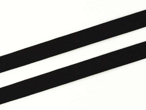 Schrägband Baumwolle - 20 mm - schwarz
