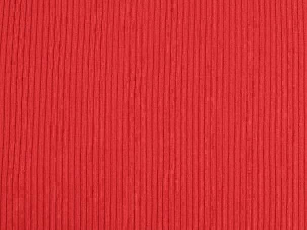 Bündchenstoff - Dicke Rippe - rot
