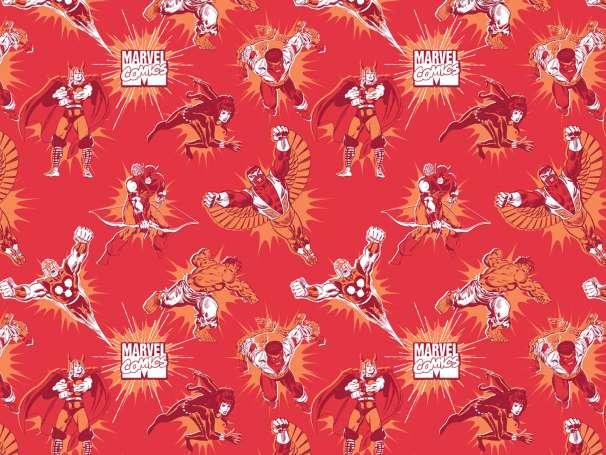 Baumwolle Stoff - Marvel Tonal in Ruby