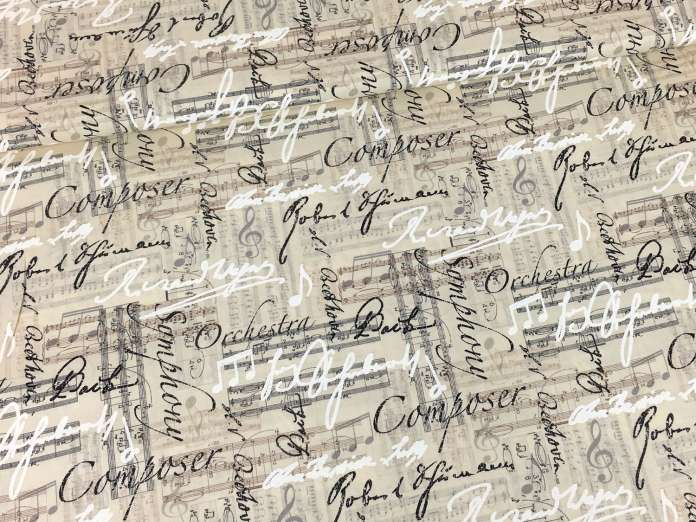 Baumwolle Stoff - Vintage Music