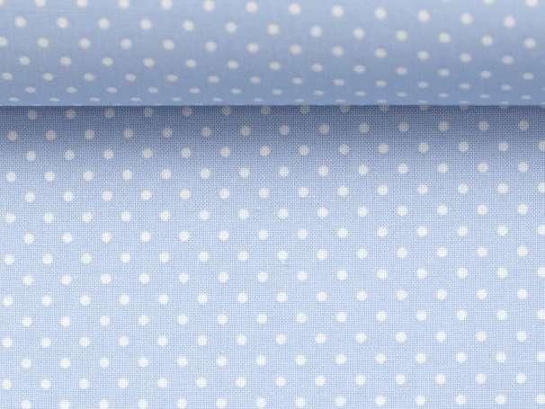 BAUMWOLLE Stoff - Pünktchen - hellblau,weiß