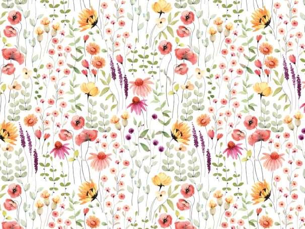 Jersey Stoff - Blumenwiese