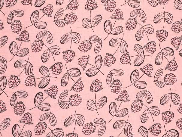 Viskose Leinen Stoff - Raspberry - rosa