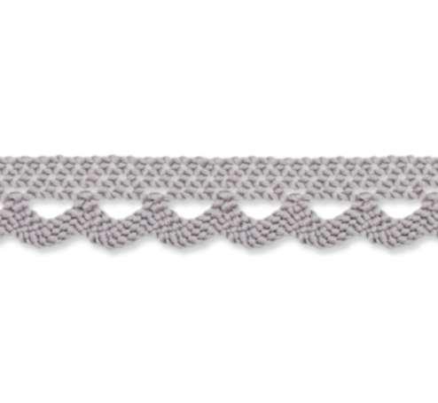 Klöppelspitze 10mm - grau