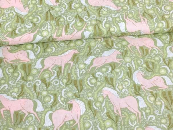 Baumwolle Stoff - Unicorns Meadow