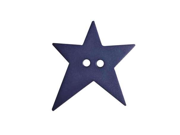 Knopf Stern 15mm - blau