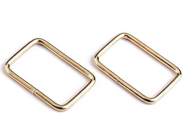 4 Vierkantringe - 20 mm - gold