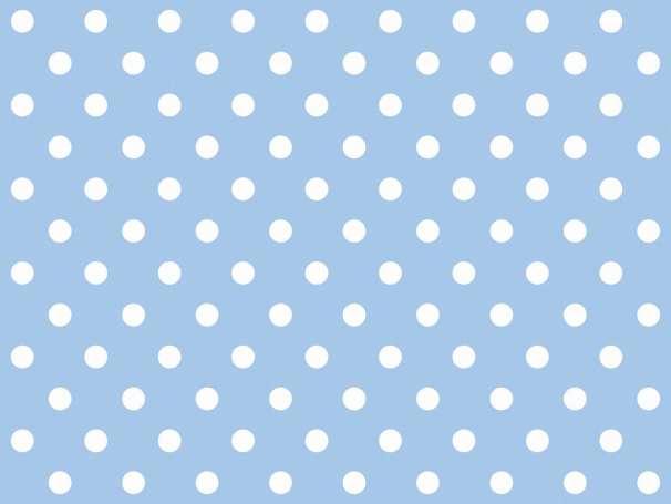 BAUMWOLLE Stoff - Punkte - hellblau,weiß