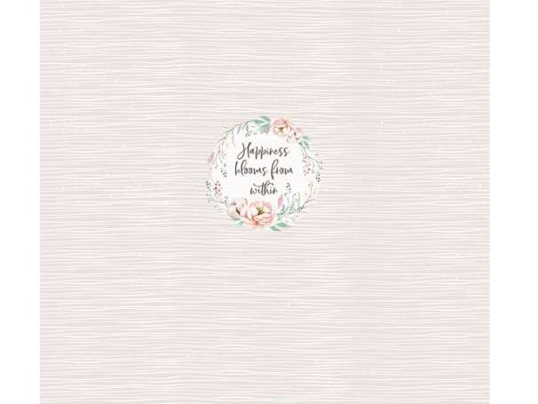 Jersey Stoff PANEL - Happiness Blooms From Within - hellgrün